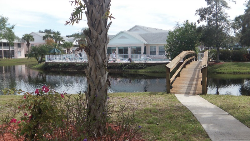 Pebble Shores Clubhouse, Pool and Bridge