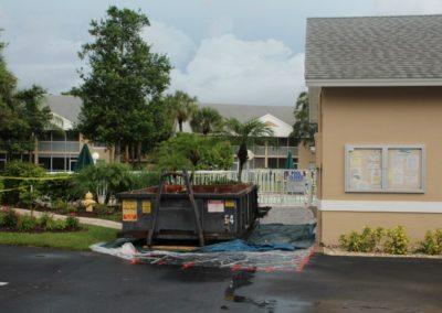 7-12-17 Dumpster for Pool Restoration