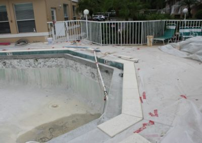8-5-17 Coping being cut and fitted