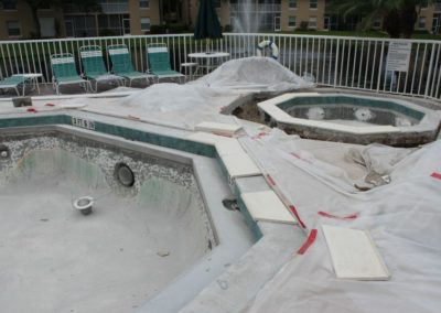 8-5-17 Coping being fitted in place