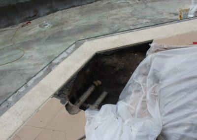 8/23/17 hole dug for leak