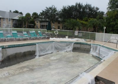 8/24/17 Work done on pool protected from rain