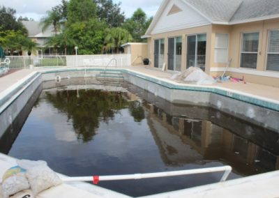 8/28/17 After 3 days of heavy rain, pool has water in it
